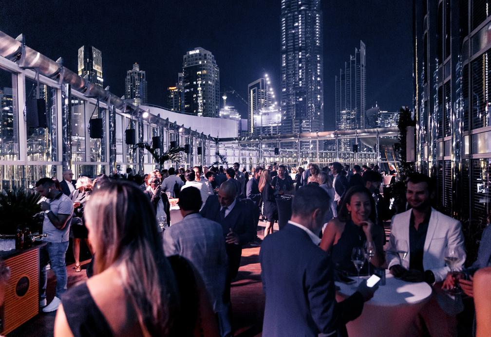 The outdoor space at 3BK is Burj Khalifa's larget terrace