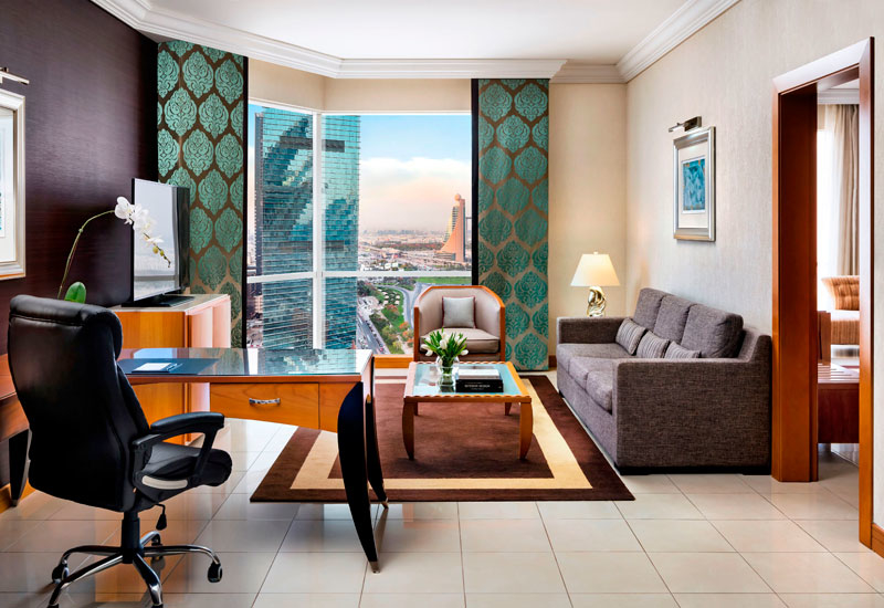 Guests can upgrade to the one bedroom suite at Fairmont Dubai as part of the deal
