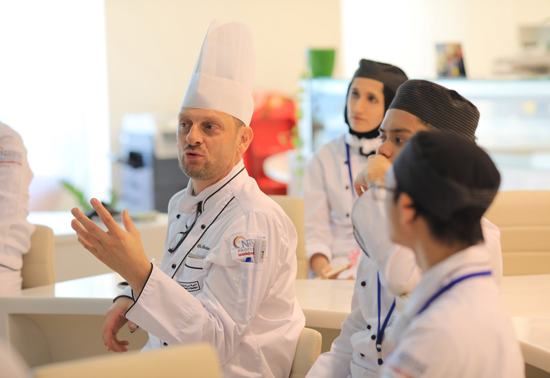 DCT organises a practical experience where students are trained under the direction of chef Christian Biesbrouck
