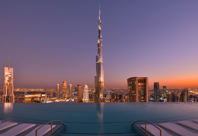 The view from Address Sky View's infinity pool, Emaar Hospitality's most recent property
