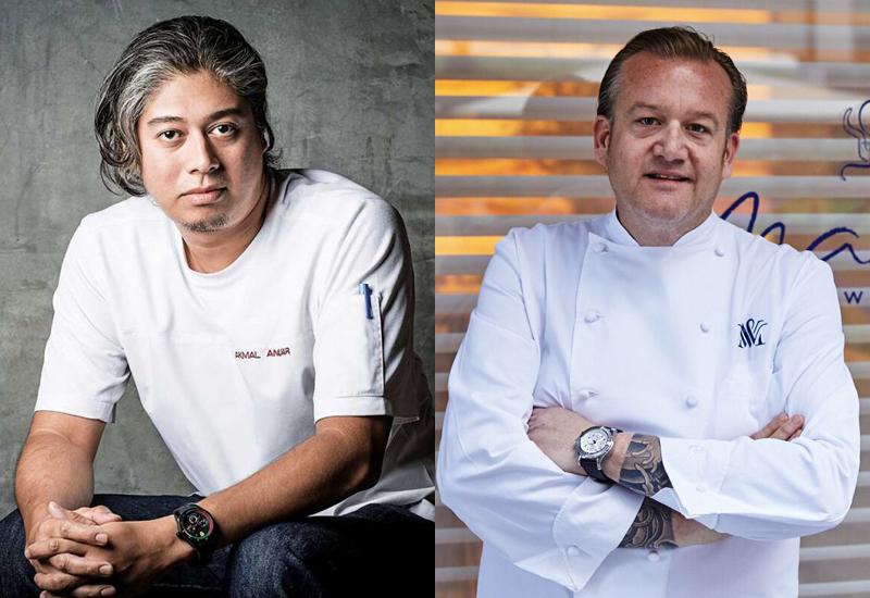 Chef Akmal Anuar and chef Michael White