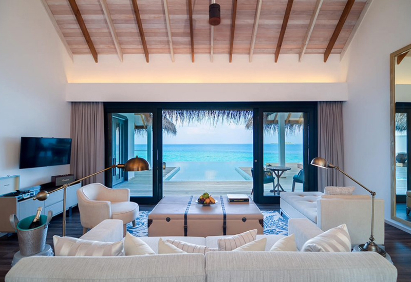 Seaside Finolhu comprises 125 beach villas, ranging from one or two bedrooms