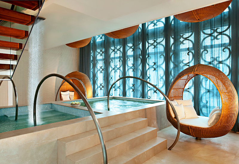 The spa relaxation area and Jacuzzi at the St. Regis Bangkok