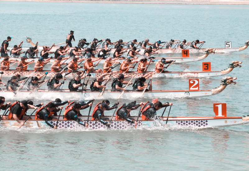 Dragon boat festivals were originally held by fishing communities along Chinese rivers