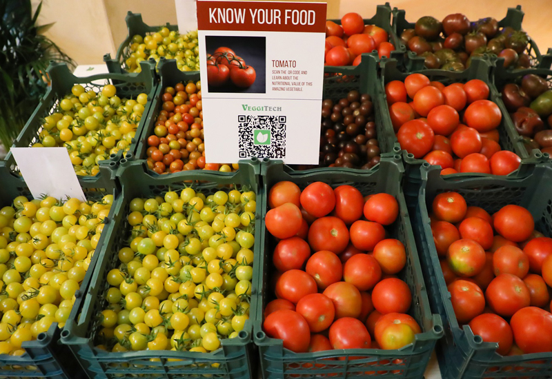 The produce comes from VeggiTech's hydroponic farm in Sharjah