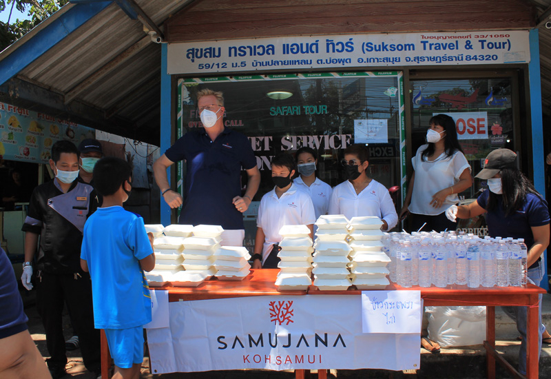 The staff at Samujana are helping to provide for those in need