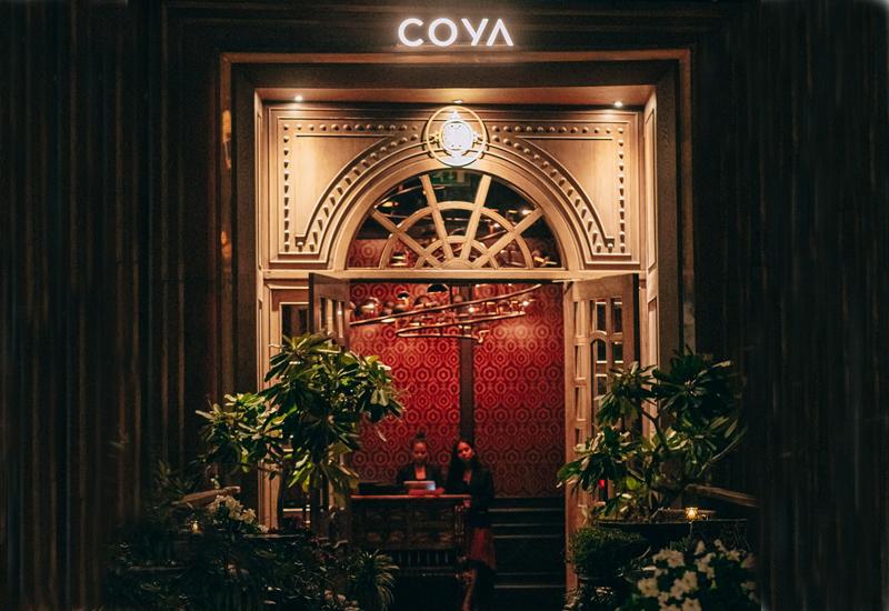 The entrance of Coya Dubai