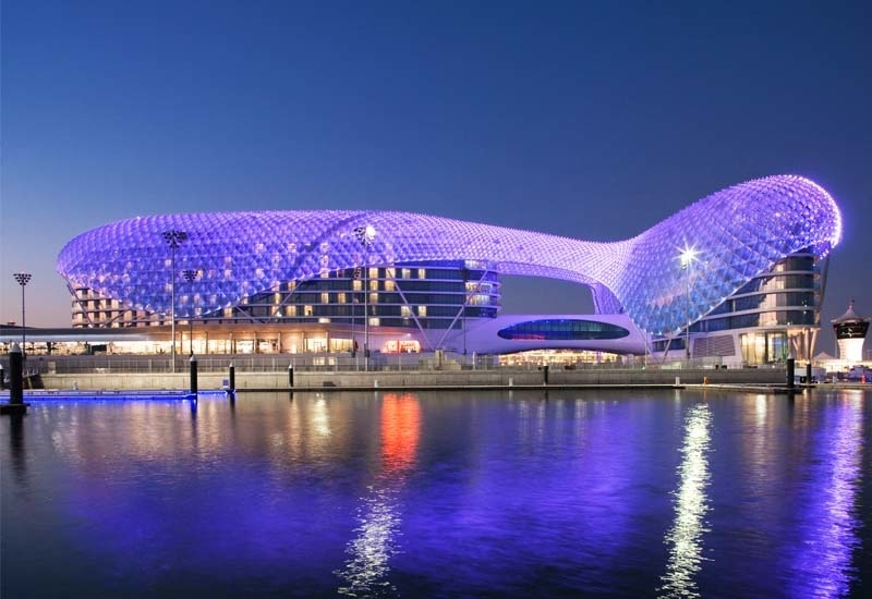 W Abu Dhabi - Yas Island is featured in the video