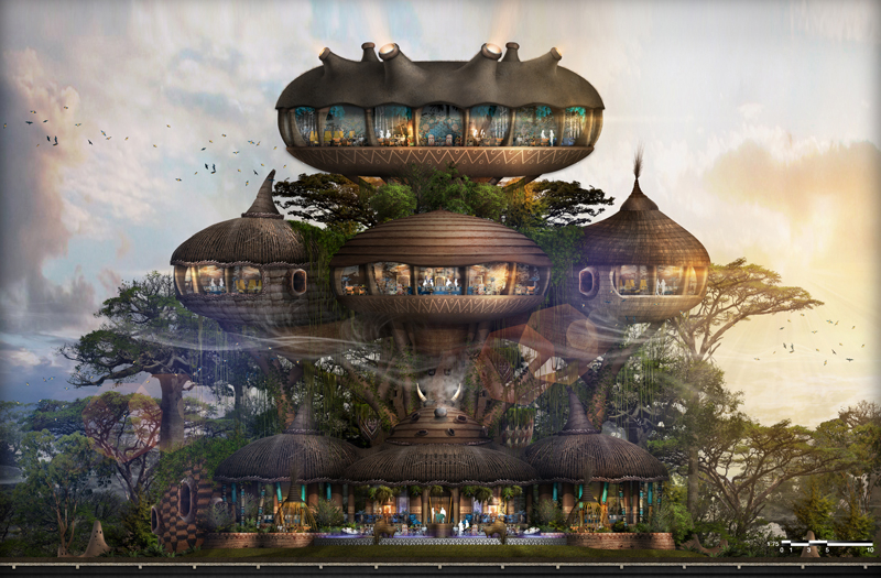 The Colony Lodge Hilton will be the largest of seven hotels in the designer's 2,000 acre complex in China