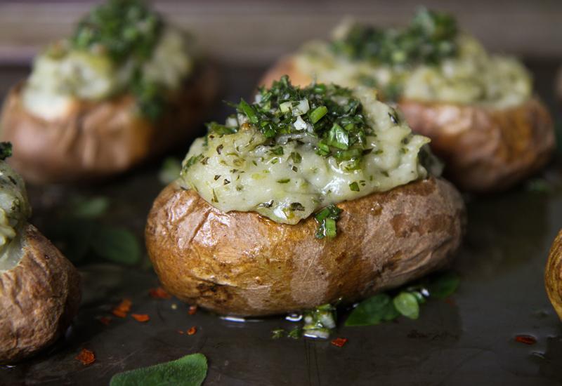 Chimichurri twice-baked potatoes is just one creative dish