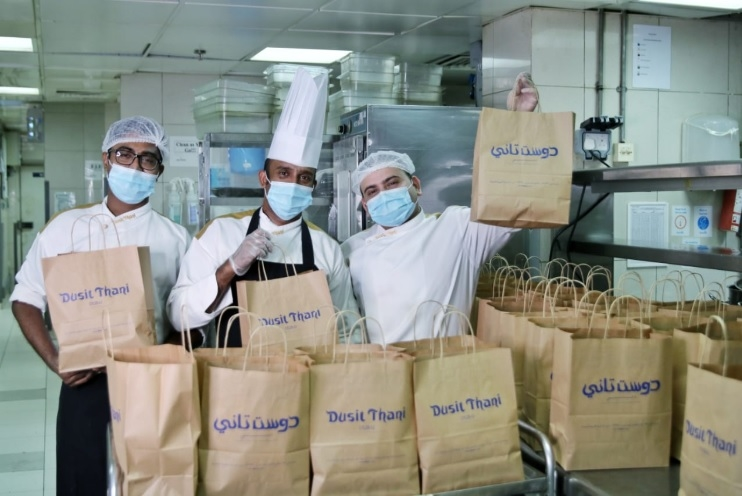 The team at Dusit Thani doing their part to help