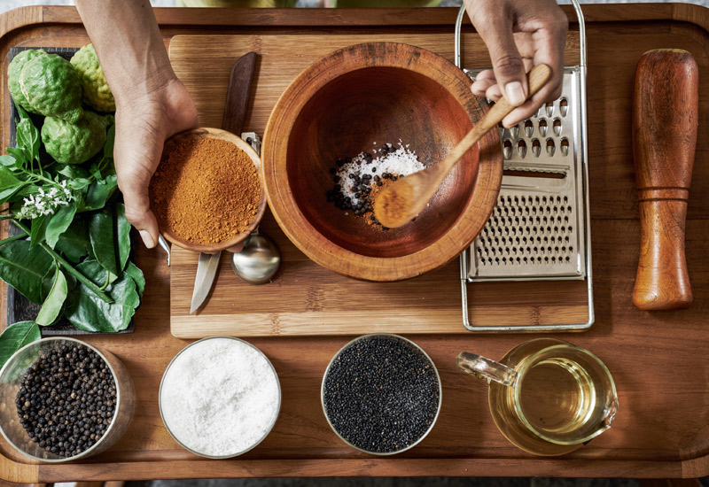 Spa treatments can be made using common household ingredients