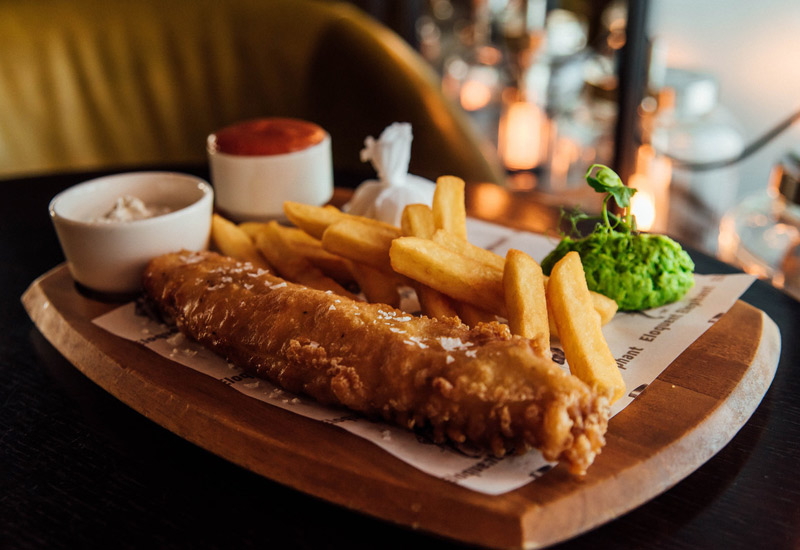 Fish and chips is on the menu