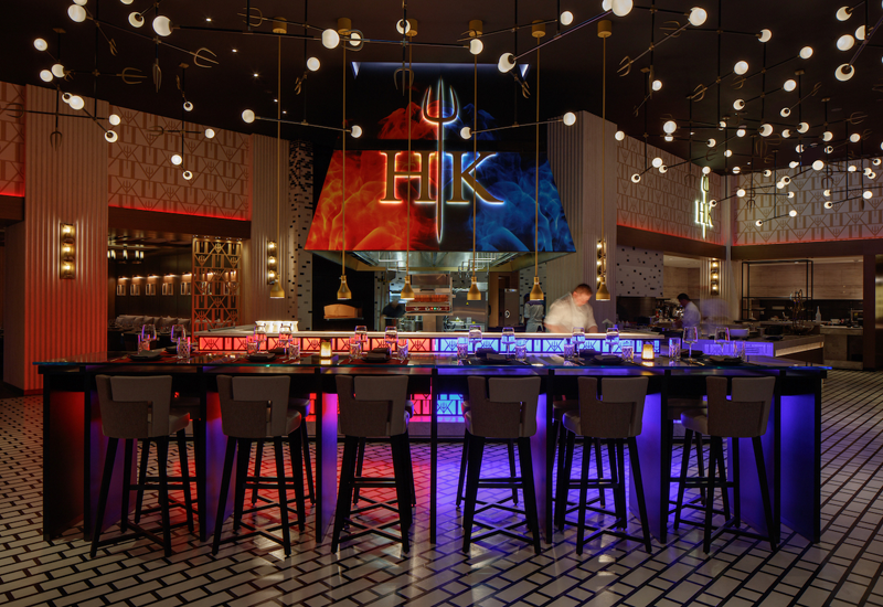 Hell's Kitchen is themed on the popular TV show
