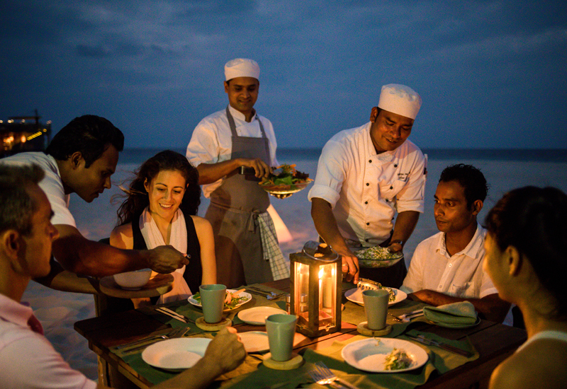 The local fishing experience lets guests dine on their own catch of the day