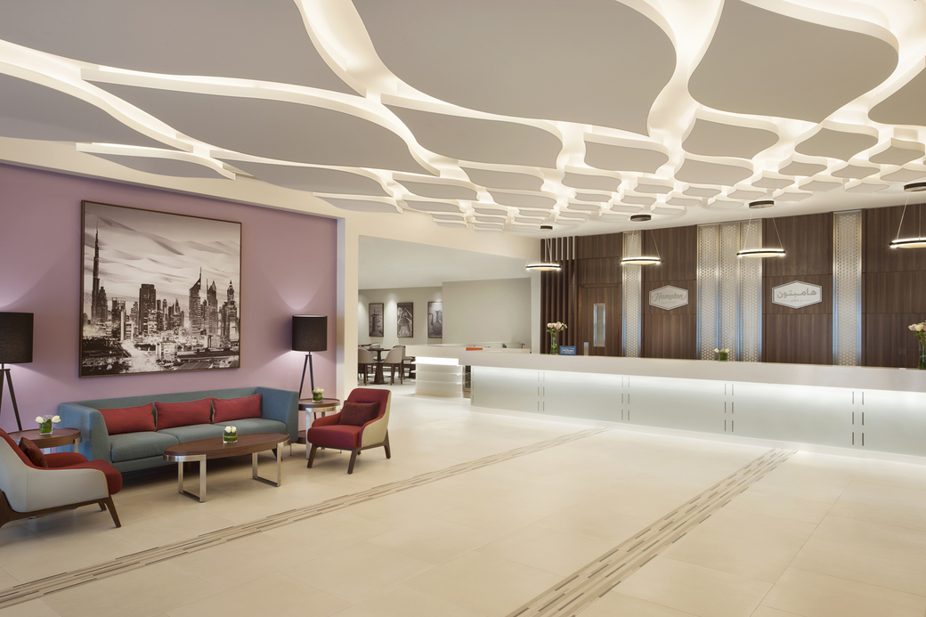 The 420-key Hampton by Hilton Dubai Airport is the brand's largest property