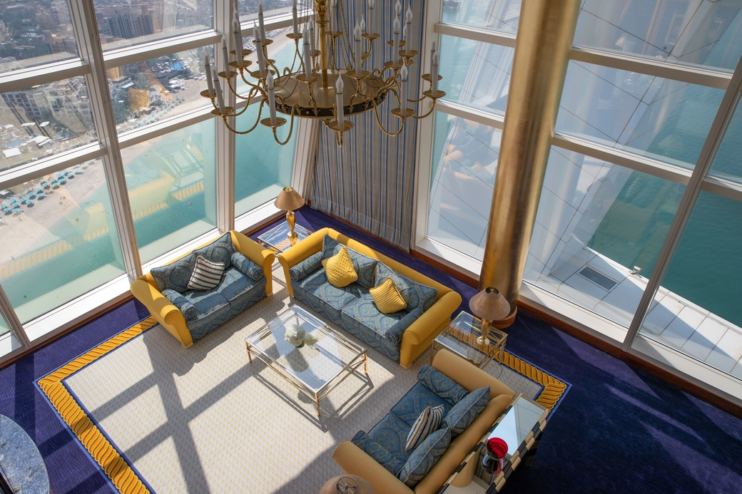 Floor to ceiling windows at Burj Al Arab Jumeirah